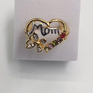 Birthday gift heart shape butterfly gold filledSZ8